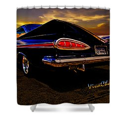 59 Chevy Impala Hardtop Shower Curtain
