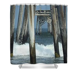 59th Street Pier Shower Curtain by John Wartman