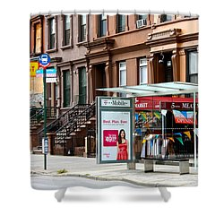 5th Ave And West 132nd Street Shower Curtain
