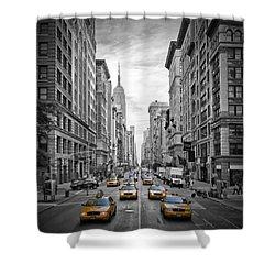 5th Avenue Nyc Traffic II Shower Curtain