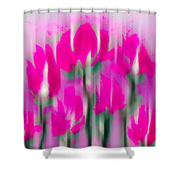 Shower Curtain featuring the digital art 6 1/2 Flowers by Frank Bright