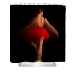 Ballet Dancer In Red Tutu Shower Curtain