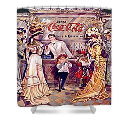 Coca - Cola Vintage Poster Shower Curtain