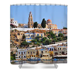 Colorful Symi Shower Curtain