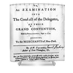 Continental Congress, 1774 Shower Curtain by Granger