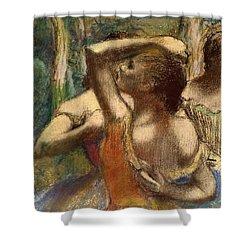 Dancers Shower Curtain by Edgar Degas