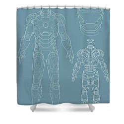 Iron Man Shower Curtain by Caio Caldas