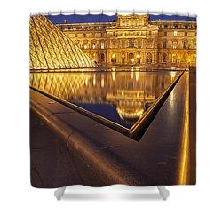 Musee Du Louvre Shower Curtain by Brian Jannsen