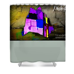 Nashville Map Watercolor Shower Curtain by Marvin Blaine