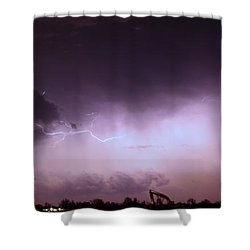 Our 1st Severe Thunderstorms In South Central Nebraska Shower Curtain