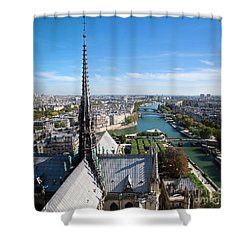 Paris Panorama France Shower Curtain by Michal Bednarek