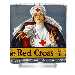 Red Cross Poster, 1917 Shower Curtain by Granger