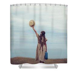 Refugee Girl Shower Curtain by Joana Kruse