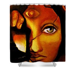 The Seeker Shower Curtain by Dalgis Edelson