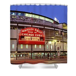 Usa, Illinois, Chicago, Cubs, Baseball Shower Curtain by Panoramic Images