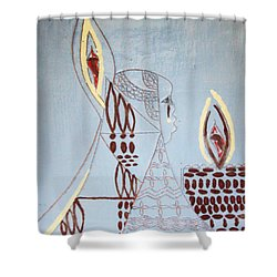 Wise Virgin Shower Curtain by Gloria Ssali