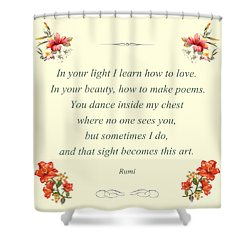 60- Rumi Shower Curtain