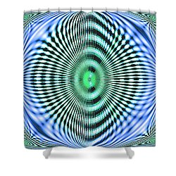 Shower Curtain featuring the digital art 60s Time by Aliceann Carlton