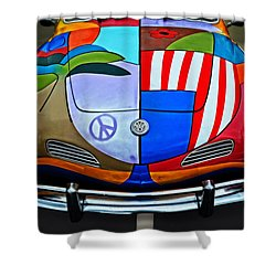 60s Wild Ride Shower Curtain by Mary Machare