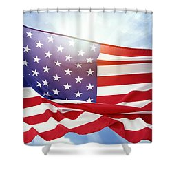 American Flag 55 Shower Curtain