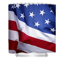 American Flag 50 Shower Curtain