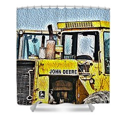 644e - Automotive Recycling Shower Curtain