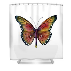 66 Spotted Wing Butterfly Shower Curtain