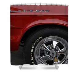 Shower Curtain featuring the photograph '67 Galaxie 500 by Nadalyn Larsen
