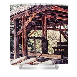 676 Sl Sutters Mill 4 Shower Curtain by Chris Berry