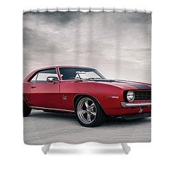 Shower Curtain featuring the digital art 69 Camaro by Douglas Pittman