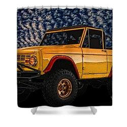 69 Ford Bronco 4x4 Restoration Shower Curtain