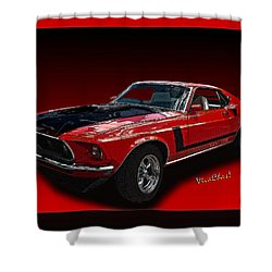 69 Mustang Mach 1 Shower Curtain