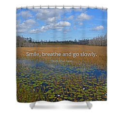 69- Thich Nhat Hanh Shower Curtain