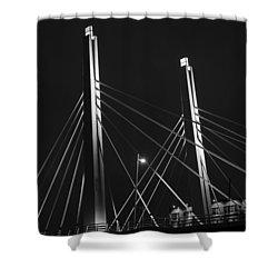 6th Street Bridge Black And White Shower Curtain