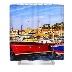 Boats At St.tropez Shower Curtain by Elena Elisseeva