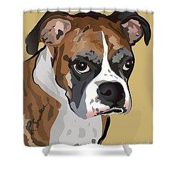 Boxer Dog Portrait Shower Curtain