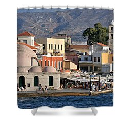 Chania City Shower Curtain