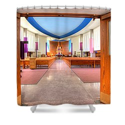 Church Of Saint Columba Shower Curtain by Amanda Stadther