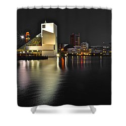 Cleveland Ohio Shower Curtain by Frozen in Time Fine Art Photography