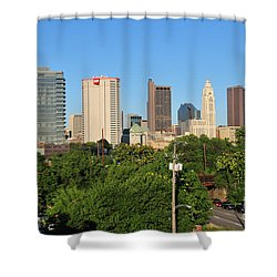 Columbus Ohio Skyline Photo Shower Curtain