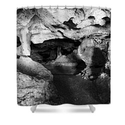 Green Grotto Caves Shower Curtain