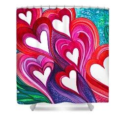 7 Hearts Shower Curtain
