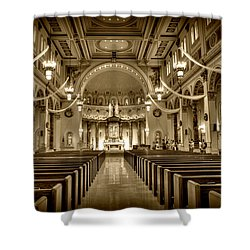 Holy Cross Catholic Church Shower Curtain by Amanda Stadther