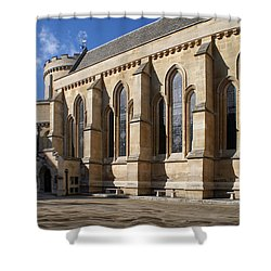 Knights Templar Temple In London Shower Curtain by Carol Ailles