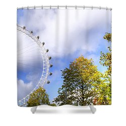London Shower Curtain by Joana Kruse
