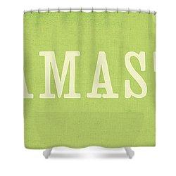 Namaste Shower Curtain by Linda Woods