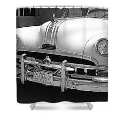 Route 66 - Classic Car Shower Curtain by Frank Romeo