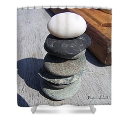 7 Stone Cairn Shower Curtain