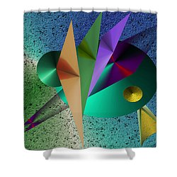 Abstract Bird Of Paradise Shower Curtain