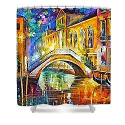 Venice Shower Curtain by Leonid Afremov